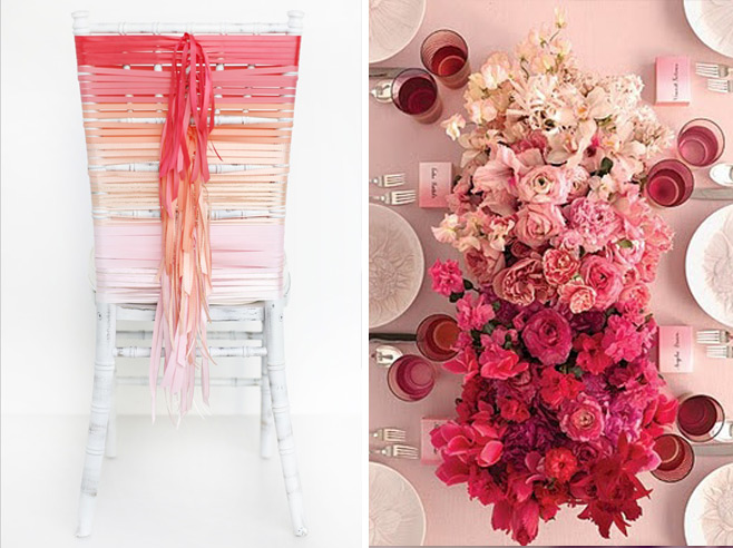 Definition of OMBRÉ ...having colors or tones that shade into each other \u2014used especially of fabrics in which the color is graduated from light to dark & Ivory Bloom
